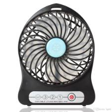 Portable Rechargeable Fan - Black
