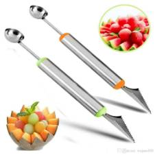 Stainless Steel Fruit Carving Knife - Silver