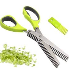 5 Blade Kitchen Scissors - Green