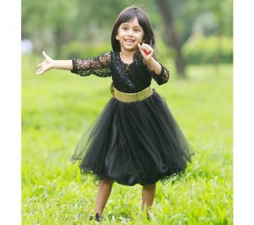 Black seqence  bow Designer gown