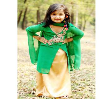 Kids Designer skirt with palazzo set