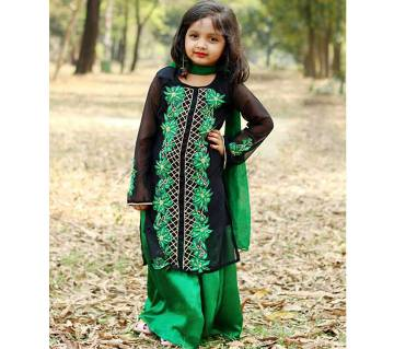 Kids Designer skirt with palazzo set