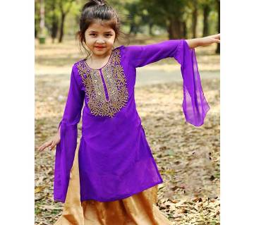 Kids Designer skirt plazzo set