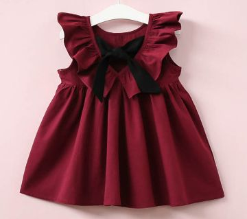 BABY DESIGNER COTTON FROCK FOR GIRLS (3 TO 6 YEARS SIZE)