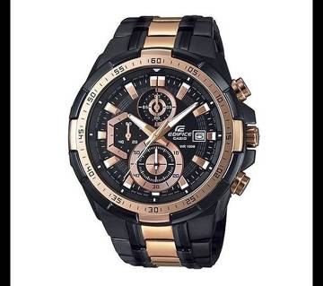 Casio Black & RoseGold Stainless Steel Wrist Watch