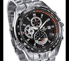 Casio Silver Stainless Steel Chronograph Watch Bangladesh - 6291332