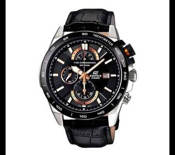Casio Black PU Leather Wrist Watch For Men
