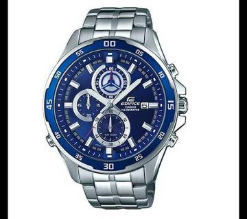 Casio Silver Chronograph Wrist Watch For Men