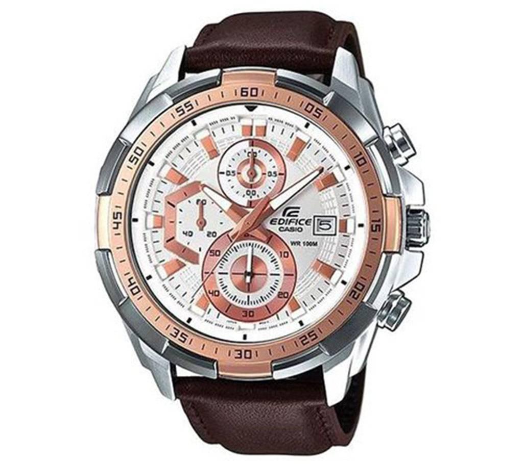 Casio Brown PU Leather Wrist Watch For Men বাংলাদেশ - 629146