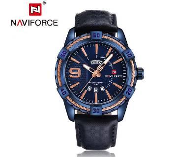 NAVIFORCE NF9117L BLUE PU LEATHER WRIST WATCH FOR MEN