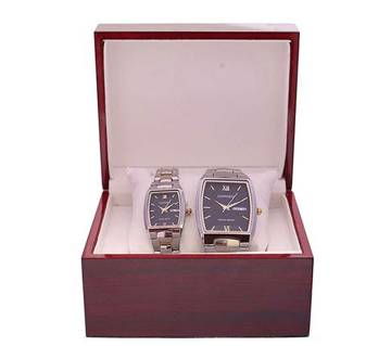 Longbo StainlessSteel Analog Watch for Couple