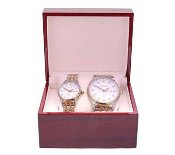 Longbo Stainless Steel Analog Watch for Couple