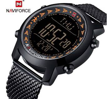 NAVIFORCE NF9130 Black Dial Digital Watch For Men- Black