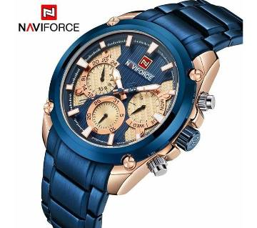 NAVIFORCE NF9113 STAINLESS STEEL CHRONOGRAPH WRIST WATCH FOR MEN_BLUE