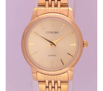 LONGBO Golden Wrist Watch For Women