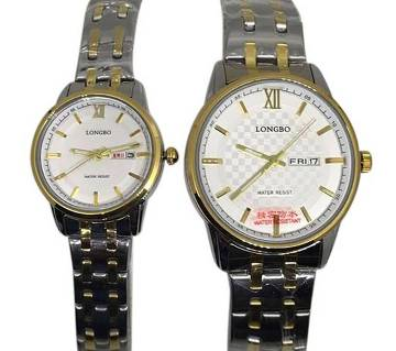 Longbo1026 - StainlessSteel Wrist Watch For Couple