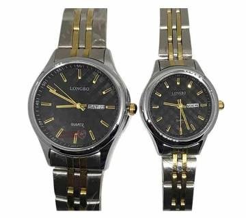 Longbo 1032 -StainlessSteel Wrist Watch For Couple