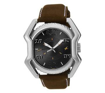 Fastrack 3112SSA - Olive Leather Watch for Men