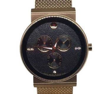 Movado 0998M Stainless Steel Wrist Watch-RoseGold