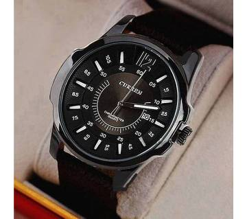 Curren (Copy) PU Leather Analog Watch For Men - Black