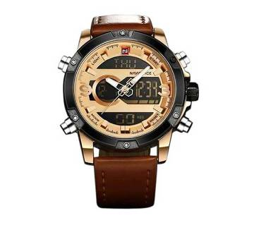NaviForce PU Leather Wrist Watch For Male - Brown
