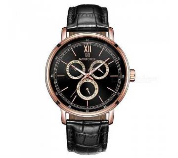 NF3002 ROSE GOLD PU LEATHER Chronometer Watch for Men