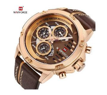 NF9110 BROWN PU LEATHER CHRONOGRAPH WATCH FOR MEN