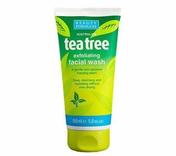 Beauty Formulas Tea Tree এক্সফোলিয়েটিং ফেস ওয়াশ