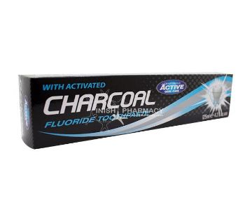 Beauty Formulas With Activated Charcoal Fluoride টুথপেস্ট 125ml - UK