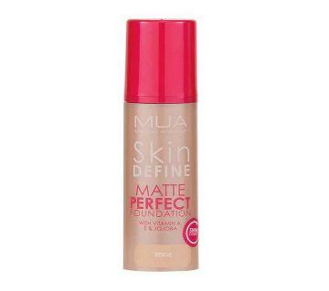 MUA skin define Matte Perfect ফাউন্ডেশন Beige - UK