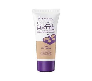 Rimmel Stay Mate Foundation - Soft Beige 30ml - UK