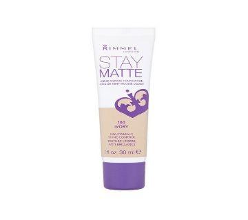 Rimmel Stay Matte Foundation Ivory 30ml - UK