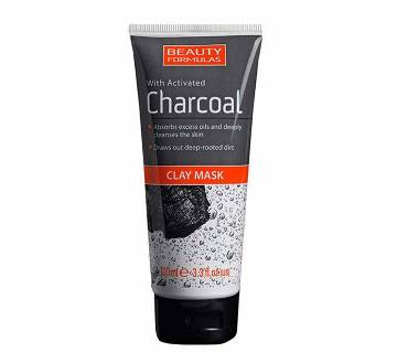 Beauty formulas charcoal clay ফেস মাস্ক ১০০ মিলি