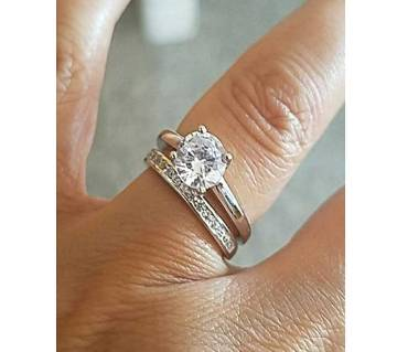 Rose Gold Plated Finger Ring Couple