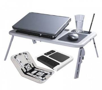 Portable Laptop Stand Foldable E-Table With 2 USB Cooling Fans