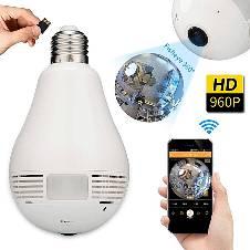 360 Degree Wifi স্পাই বাল্ব ক্যামেরা