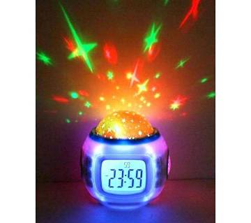 Stars Projection Clock with temperature display