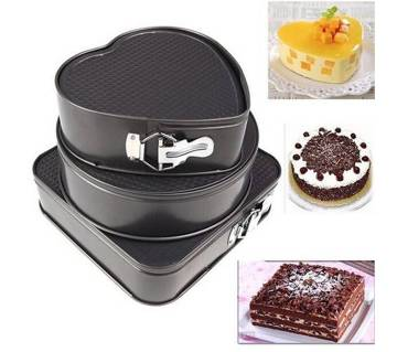 Three Design Cake Pan Set (3 Piece)