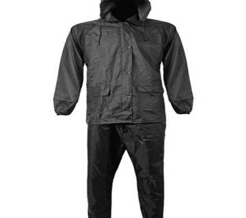 Black Waterproof Raincoat