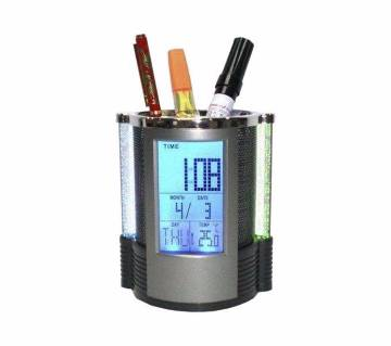 Digital Pen Holder Clock with Temperature
