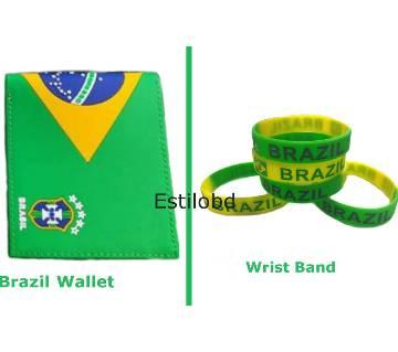 Brazil Wallet & Bracelet Combo Pack