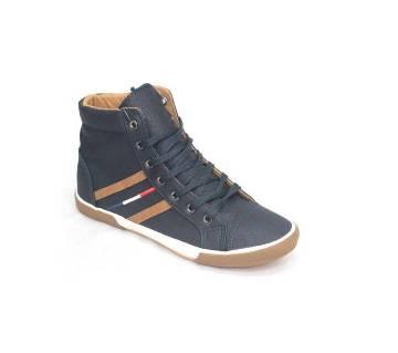 Dark Blue Ankle Sneakers for Men