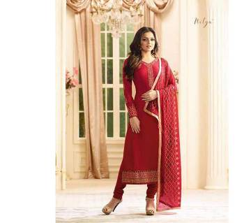Unstitched georgette embroidery three piece-copy
