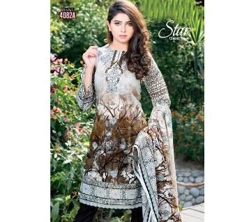 Unstitched Pakistani Lawn Printed Three pcs