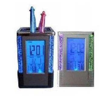 Digital pen holder clock