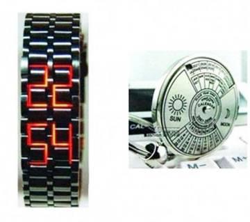 Combo of Samurai Wrist Watch & Calendar