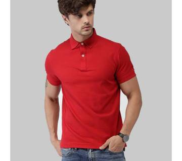 Gents Half Sleeve Solid Color Polo Shirt