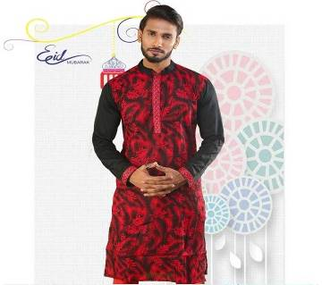 Menz Semi Long Cotton Panjabi
