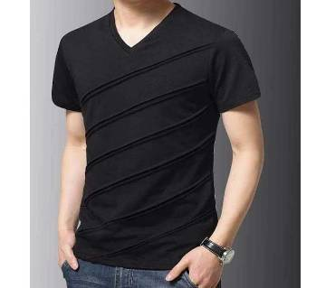Gents Half Sleeve V-Neck T-Shirt