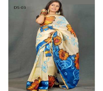 COTTON COTA HAND PRINT SAREE